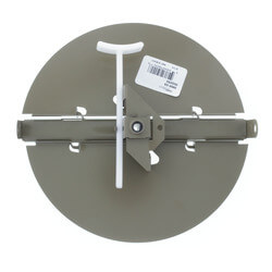"3800 Series 8"" Steel Butterfly Damper with Ring (Golden Sand)"
