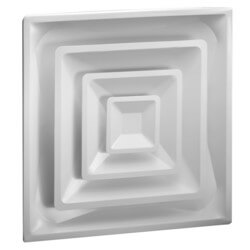"High Volume Supply Ceiling Diffuser w/ 6-1/2"" Collar (HVS Series)"