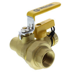 "3/4"" Threaded x 3/4"" Sweat Pro-Pal Union Ball Valve w/ Hose Drain"