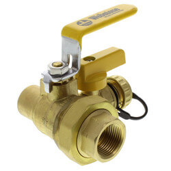 "3/4"" Threaded x 3/4"" Sweat Pro-Pal Union Ball Valve w/ Hose Drain (Lead Free) Product Image"