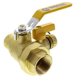 "1"" Threaded x 1"" Sweat Pro-Pal Union Ball Valve w/ Hose Drain"