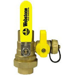 "1-1/2"" Threaded x 1-1/2"" Sweat Pro-Pal Union Ball Valve w/ Hose Drain"