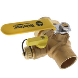 "1-1/2"" Threaded x 1-1/2"" Sweat Union Ball Valve w/ Hose Drain (Lead Free) Product Image"
