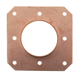 "1"" Copper CTS Tube Square O Strap Product Image"