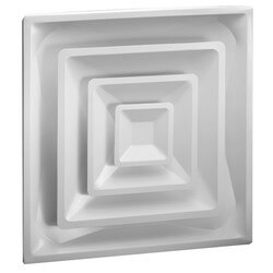 "4-Way Steel Ceiling Diffuser w/ 6"" Collar (FPD Series)"