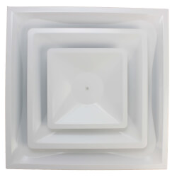 "4-Way Steel Ceiling Diffuser w/ 10"" Collar (FPD Series)"