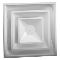 "4-Way Steel Ceiling Diffuser w/ 12"" Collar (FPD Series)"