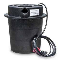 WRS-6-1/3 HP, 45 GPM @ 5' - Submersible Utility Pump, Water Removal System w/ 5 gal. tank & 8ft power cord