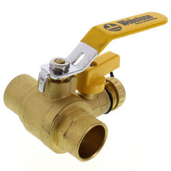 "1"" Sweat PRO-PAL Ball Valve w/ Drain (Lead Free)"