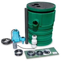 9S-SMPX-LG Pit Plus Sewage Basin/Unassembled 9S 4/10 HP Sewage pump