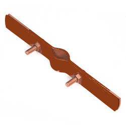 """4"""" Copper Epoxy Coated Riser Clamp Product Image"""