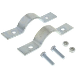 "2"" Electro-Galvanized Short Arm Riser Clamp Product Image"