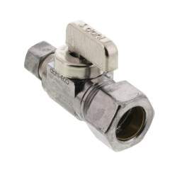 "5/8"" (1/2 Nom. Pipe) x 3/8"" OD Comp Straight Supply Stop, LF (Chrome) Product Image"