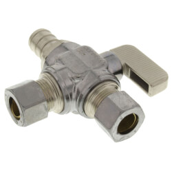"1/2"" Pex Crimp x 3/8"" x 3/8"" OD Comp. Straight Stop Valve, LF Product Image"
