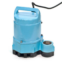 10E-CIM 1/2 HP, 80 GPM - Manual Submersible Sump Effluent Pump, 25ft power cord