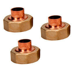 """1/2"""" Sweat Union for 5120 Water Temp. Mixing Valve with Gauge (Set of 3) Product Image"""