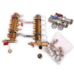 "3 Loop Radiant Heat Manifold Package (3/4"" PEX) Product Image"