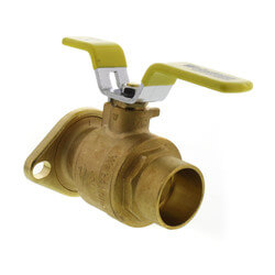 "1-1/2"" Swt Full Port Brass Uni-Flange Isolator Ball Valve w/ Detachable Rotating Flange for Std. & High Velocity Pumps (Pair)"