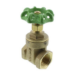 "3/4"" Threaded Gate Valve, Lead Free"