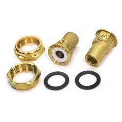 "1/2"" GU 125 Union Bronze Isolation Valve Pair (NPT)"