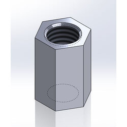 "3/4"" x 5/8"" Electro-Galvanized Reducing<br>Rod Coupling Product Image"