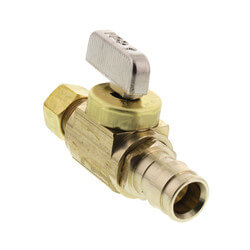 "1/2"" Expansion PEX Full-Port Straight Stop Valve, Lead Free (Brass) Product Image"