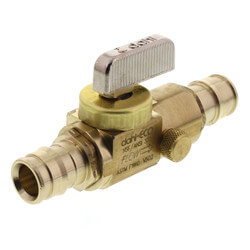 """1/2"""" Expansion PEX Brass Ball Valve with Drain (Lead Free) Product Image"""