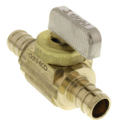 "1/2"" PEX Straight In-Line Ball Valve, Lead Free (Rough Brass) Product Image"