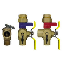 "3/4"" Sweat Tankless Water Heater Isolation Valves w/ Pressure Relief Valve"