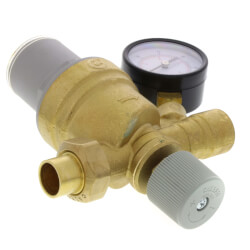 "1/2"" Swt Inlet x 1/2"" FNPT Outlet AutoFill Filling Valve w/ Pressure Gauge Product Image"