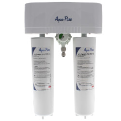 Aqua-Pure AP-DWS1000 Less Faucet, Dual Stage Drinking Water Filtration System