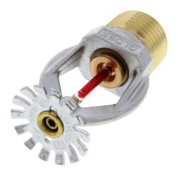 "Quick Response Chrome Pendant Sprinkler Head<br>155°F (1/2"" Thread) Product Image"