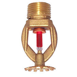 "Quick Response Chrome Pendant Sprinkler Head<br>200°F (1/2"" Thread) Product Image"