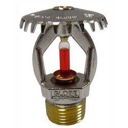 "Quick Response Chrome Upright Sprinkler Head<Br>155°F (1/2"" Thread) Product Image"