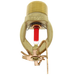 "Brass Horizontal Side Wall Sprinkler Head - 155°F (1/2"" Thread) Product Image"