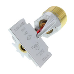 "Brass Horizontal Side Wall Sprinkler Head - 155°F (1/2"" Thread)"