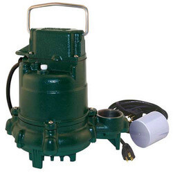 Model BN57 Mighty-Mate Cast Iron Effluent Pump w/ Variable Level Float Switch - 115 V, 9 Ft Cord