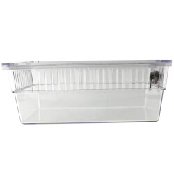 """8-1/4"""" x 4-1/2"""" x 3-1/4"""" Clear Plastic Thermostat Guard with Two Bases"""
