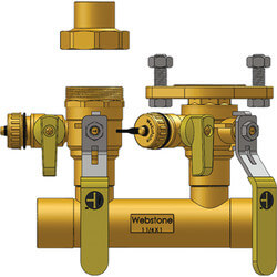 "1"" Sweat Run x 1"" Hydro-Core Right Flange Manifold w/ 3/4"" SWT Union Product Image"