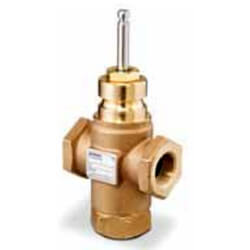 "1-1/4"" 3-Way Brass Mixing Valve Body, Female x Female (16 Cv) Product Image"
