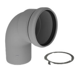 """5"""" PolyPro 90° Elbow w/ LB2 Product Image"""
