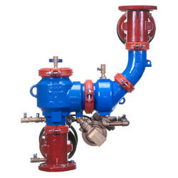 "6"" 475DA Reduced Pressure Assy Vertical Flow Up Configuration Product Image"