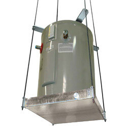 "Ceiling Mount Suspended Platform w/ Cross Braces (28-1/2"" x 28-1/2"" x 3"" Pan) Product Image"
