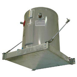 "Wall Mounted Suspended Platform, Steel Drain (24"" x 24"") Product Image"