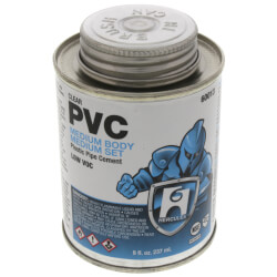 8 oz. Medium Body, Medium Set PVC Cement (Clear) Product Image