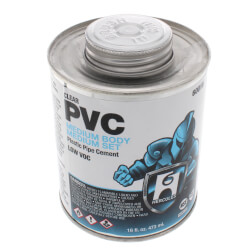 1 pt. Medium Body, Medium Set PVC Cement (Clear)