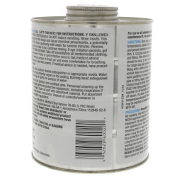 1 qt. Medium Body, Medium Set PVC Cement (Clear)