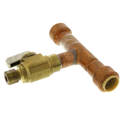 Add-A-Line 1/2 Push Fit x 1/4 OD Compression (No Lead Copper) Product Image