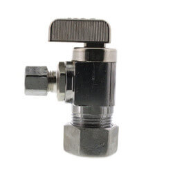 "5/8"" (1/2 Nom. Pipe) x 3/8"" OD Comp Angle Supply Stop, LF (Chrome) Product Image"