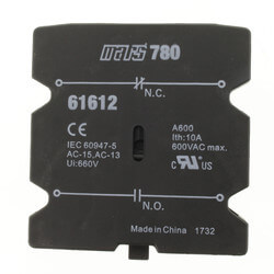 1 N/O - 1 N/C Auxiliary Switch (30-60 Amp) Product Image